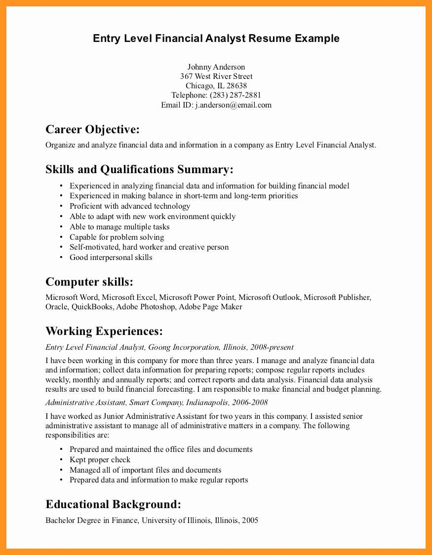 9 10 Data Analyst Resume No Experience