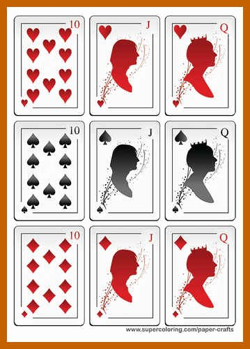 9 10 playing card templates
