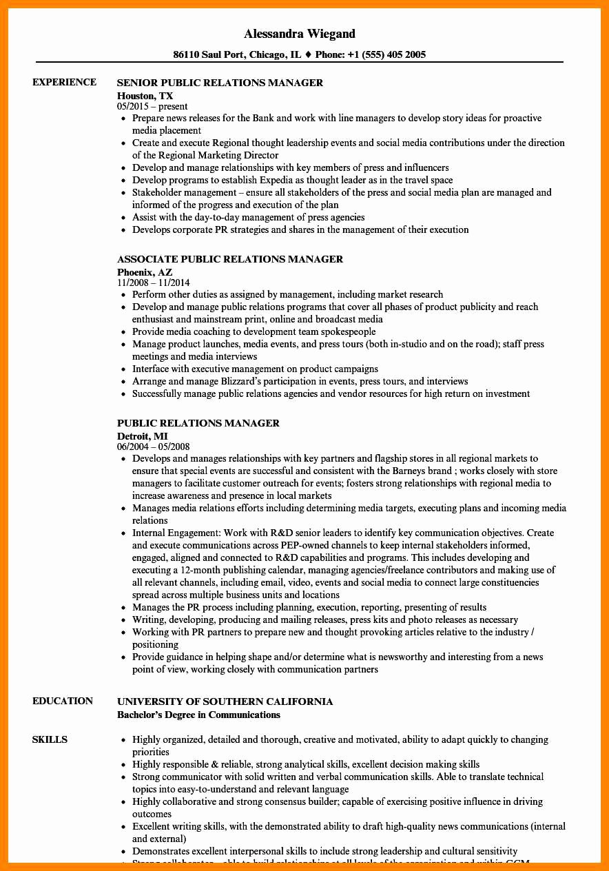 9 10 Public Relations Skills for Resume
