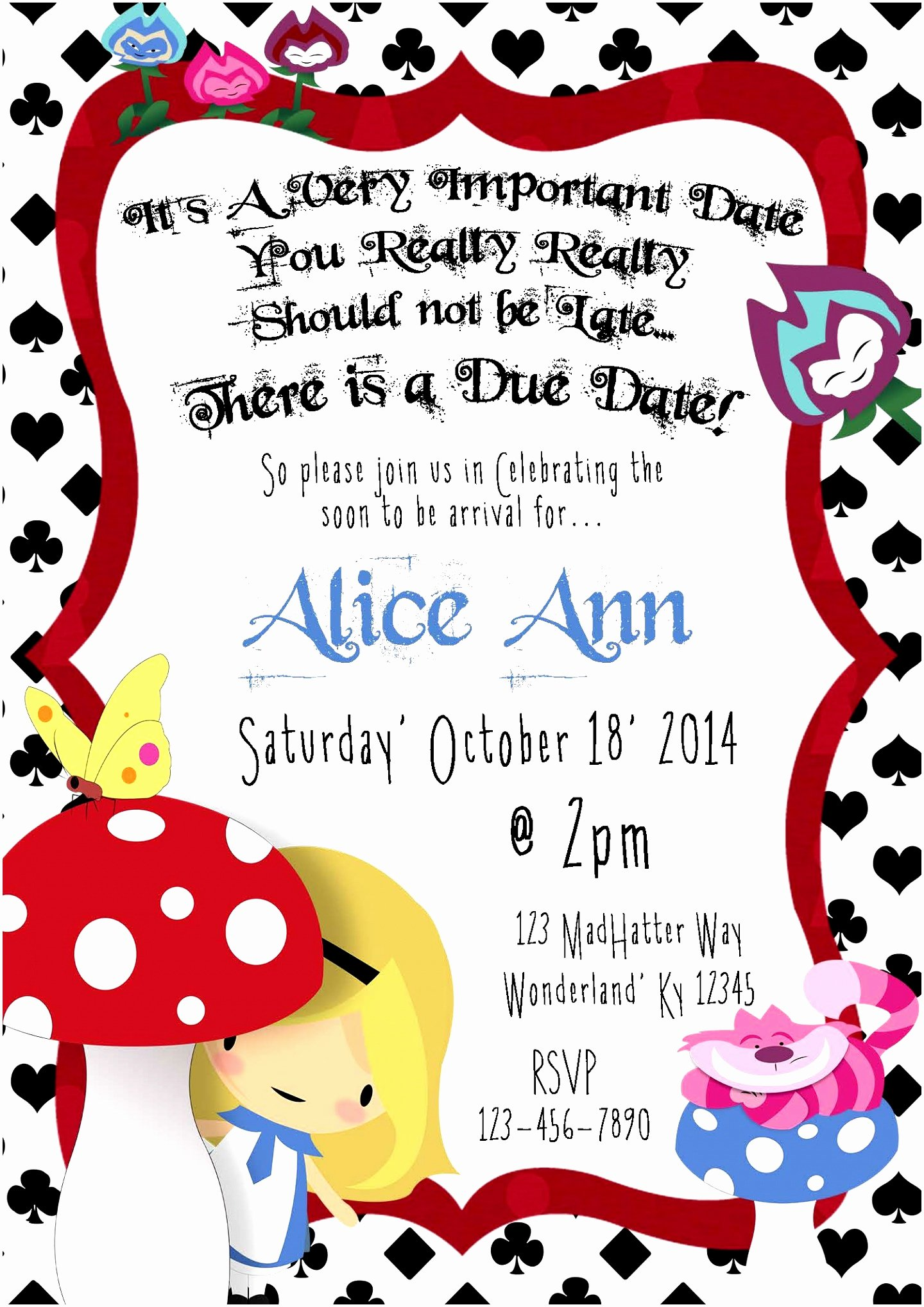 9 Alice In Wonderland Party Invitations Template Uuouo