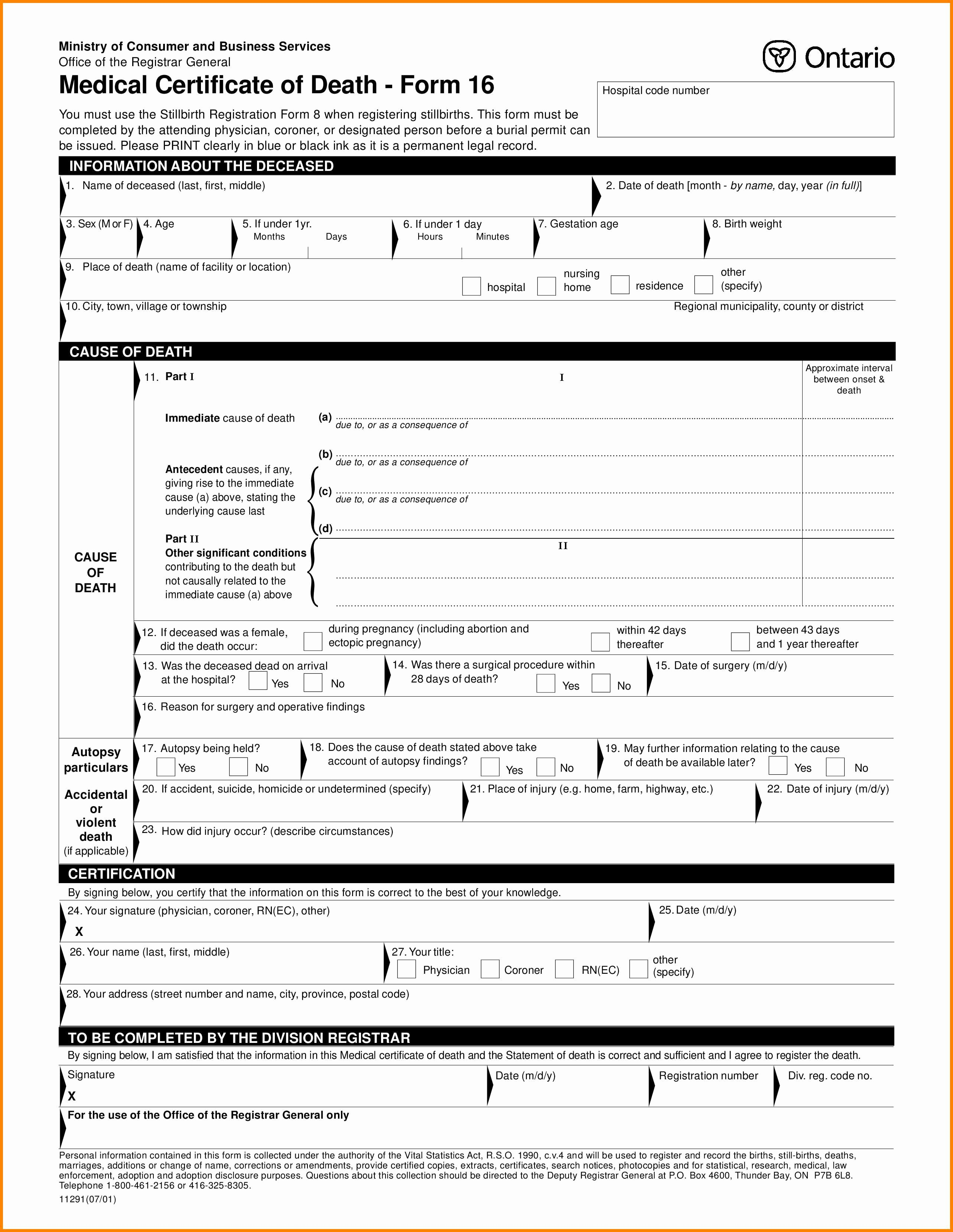 9 Autopsy Report Template