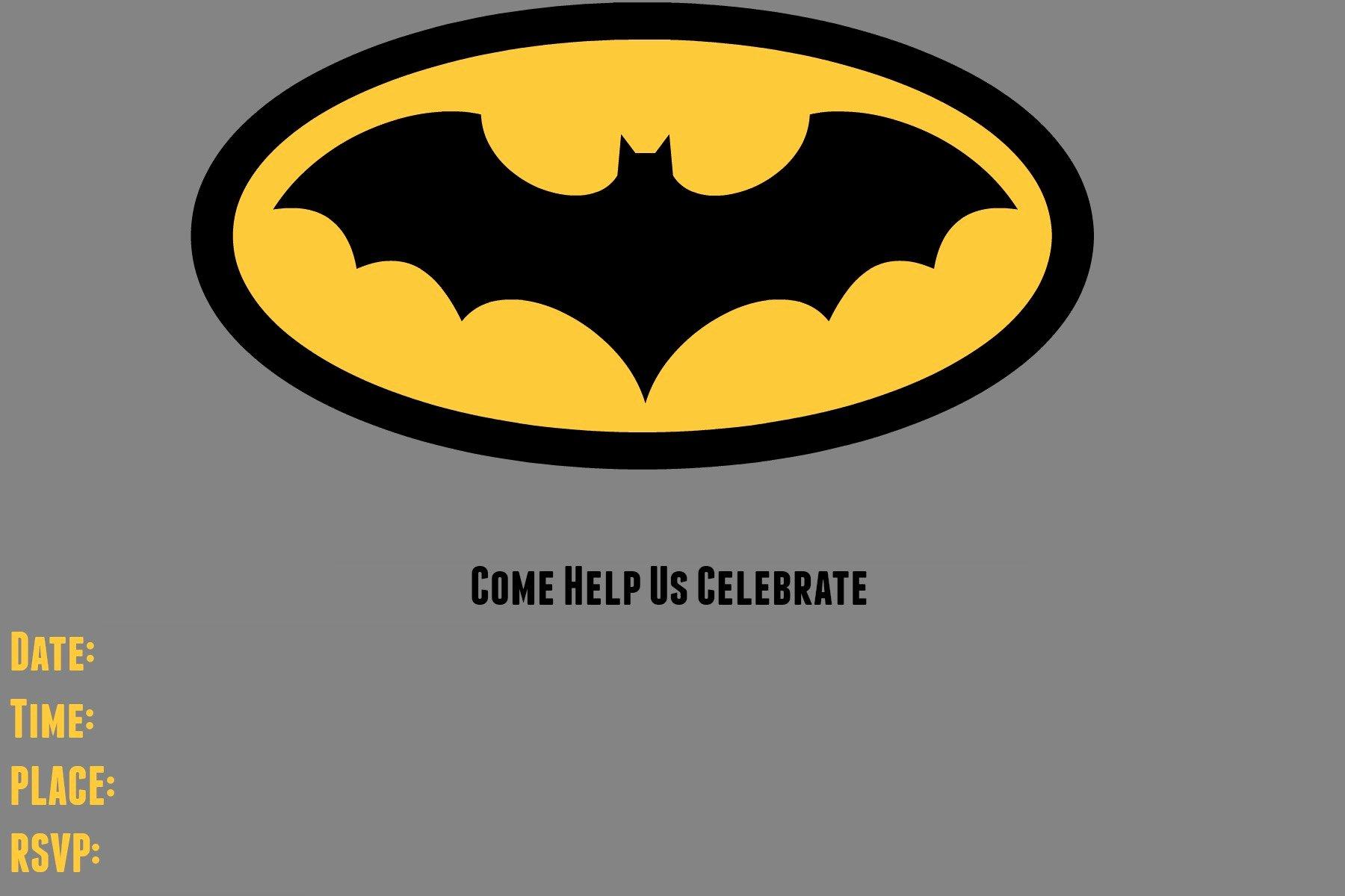9 Awesome Batman Birthday Invitations