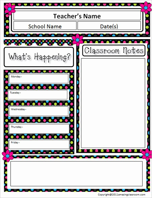 9 Awesome Classroom Newsletter Templates & Designs