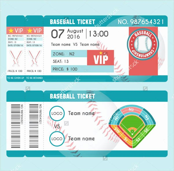 9 Baseball Ticket Templates Free Psd Ai Vector Eps