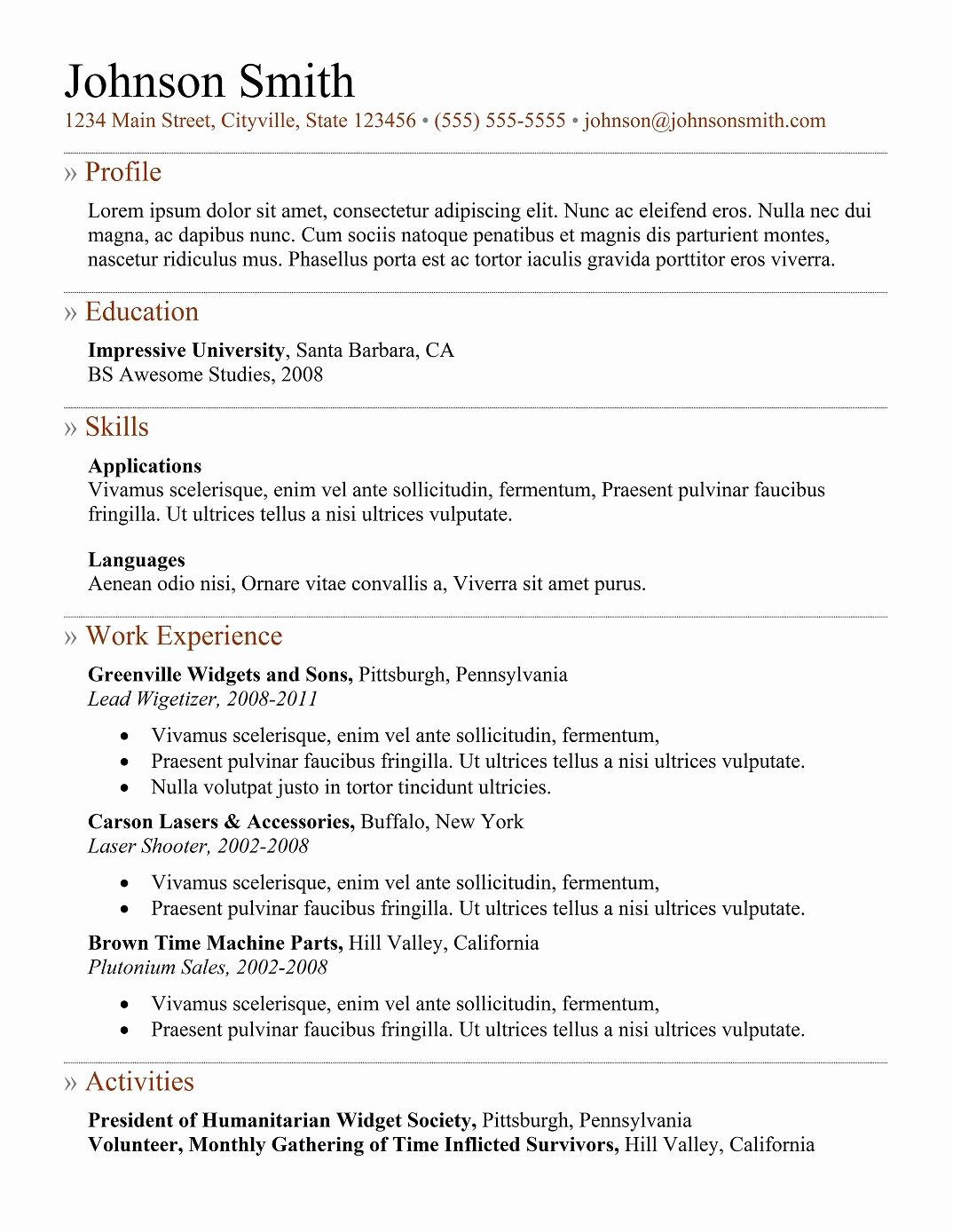 9 Best Free Resume Templates for Freshers