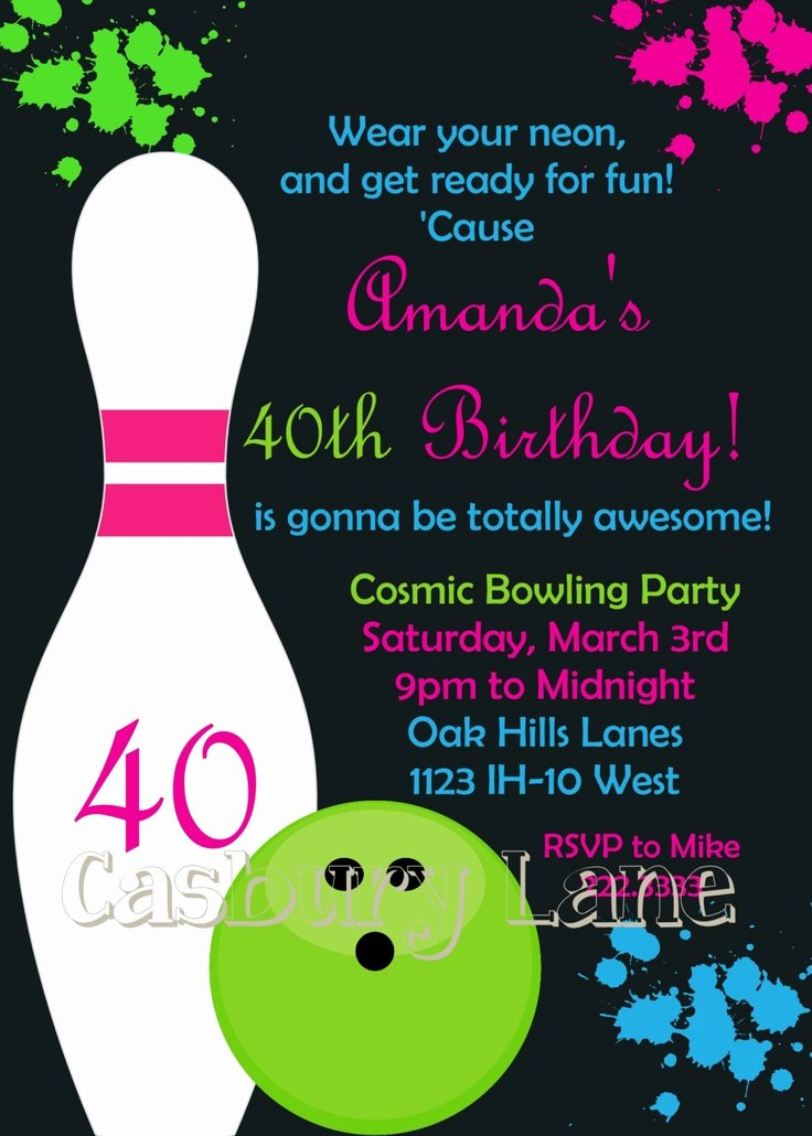 9 Best Images About Bowling Party On Pinterest