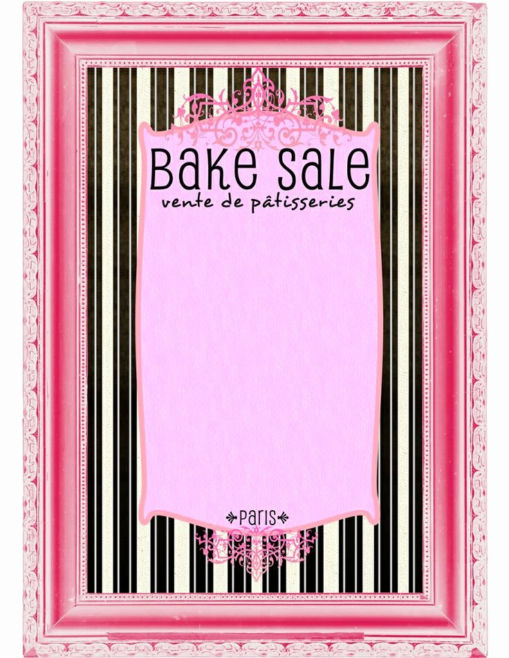 9 Best Of Bake Sale Printable Template Free