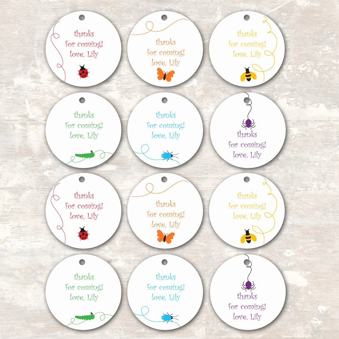 9 Best Of Birthday Party Favor Tags Free Printable