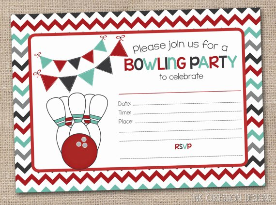 9 Best Of Blank Printable Bowling Birthday