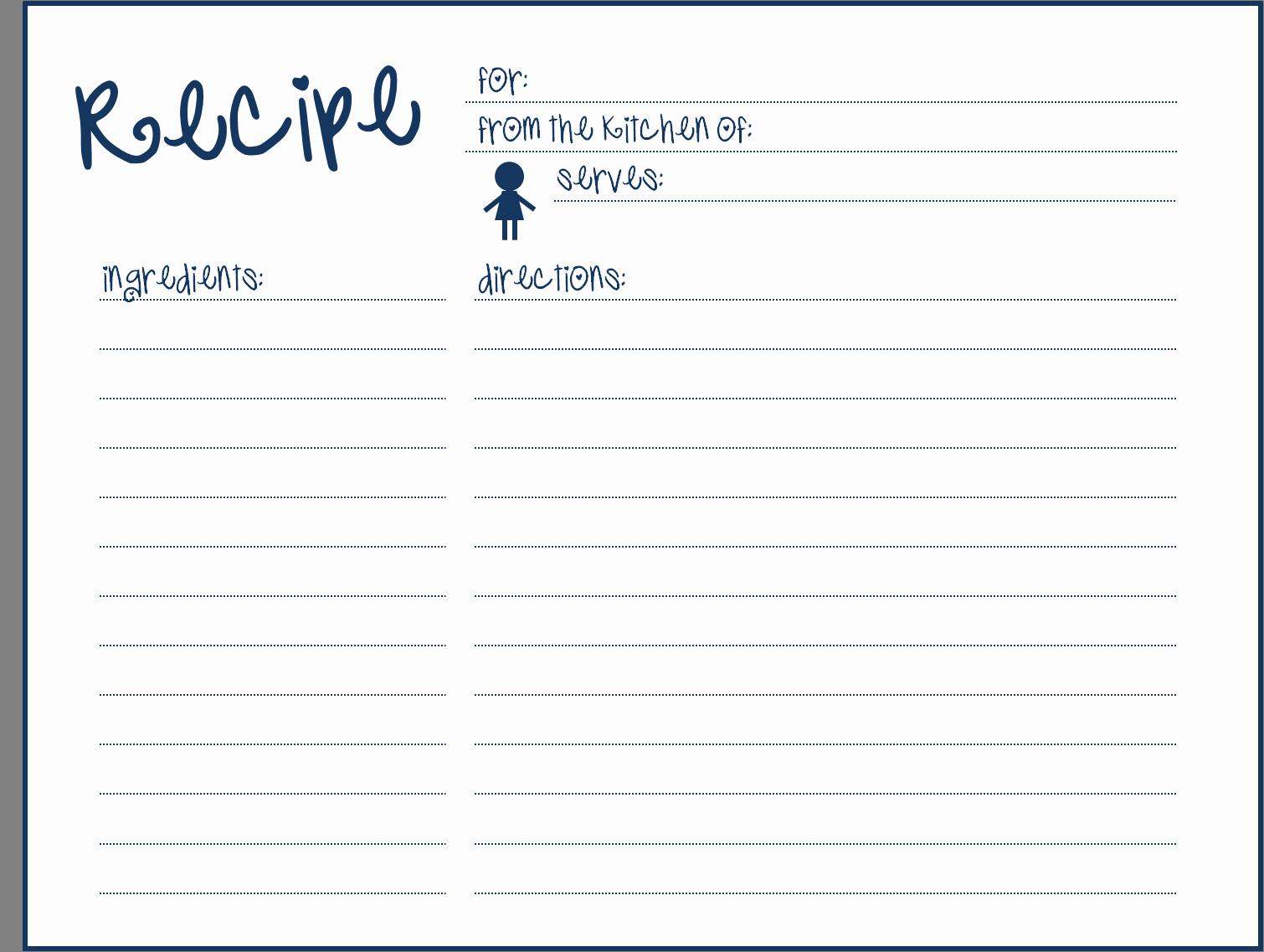 9 Best Of Blank Printable Recipe Cards Blank