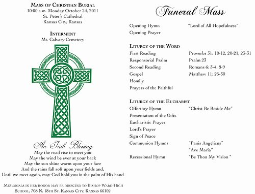9 Best Of Catholic Funeral Program Template