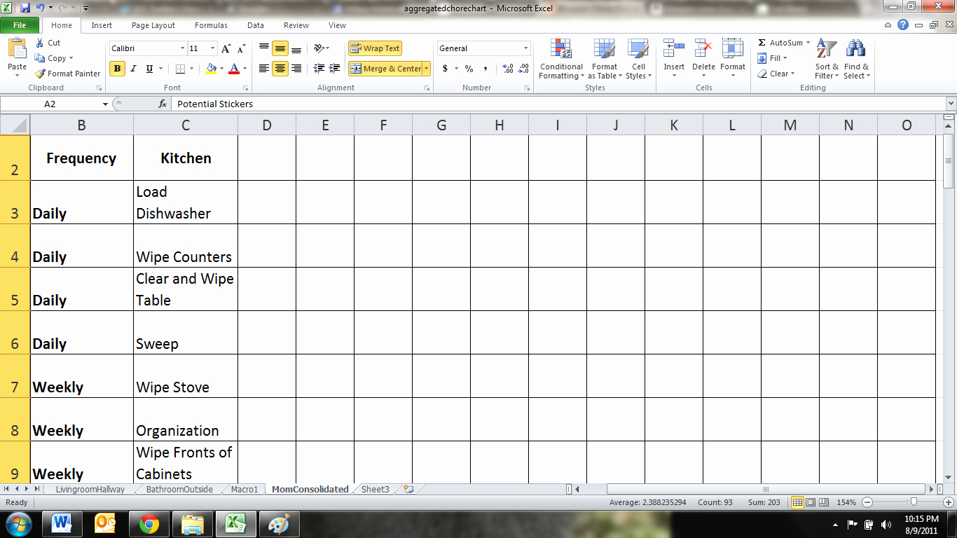 9 Best Of Ce A Month Chart Chores Printable