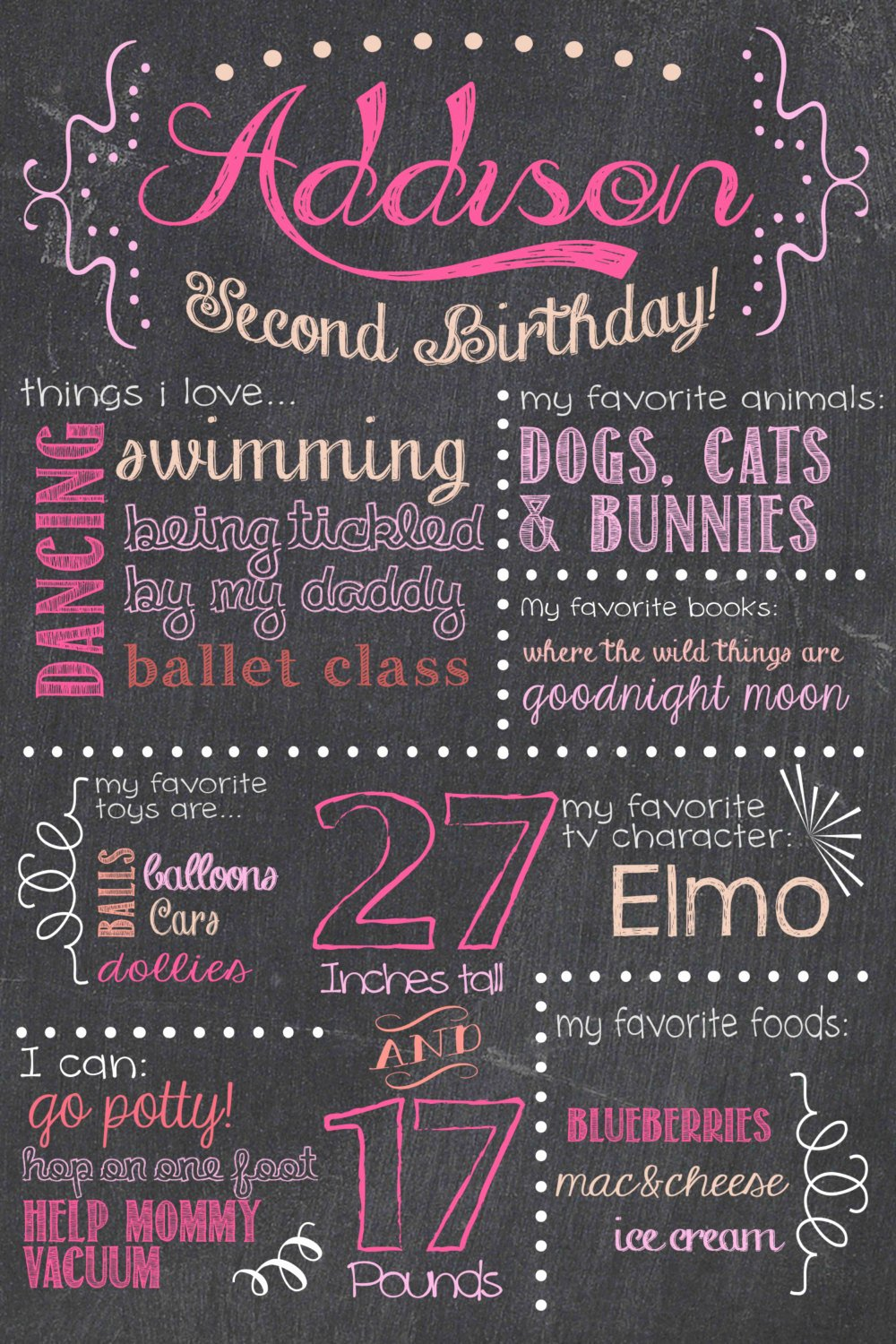 9 Best Of Chalkboard Birthday Printable Happy