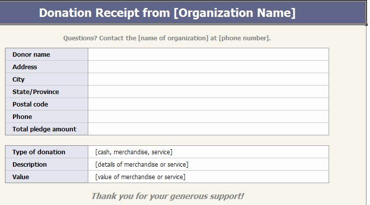 9 Best Of Church Donation Receipt Template Sample