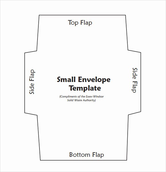 9 Best Of Envelope Template Pdf Small Envelope