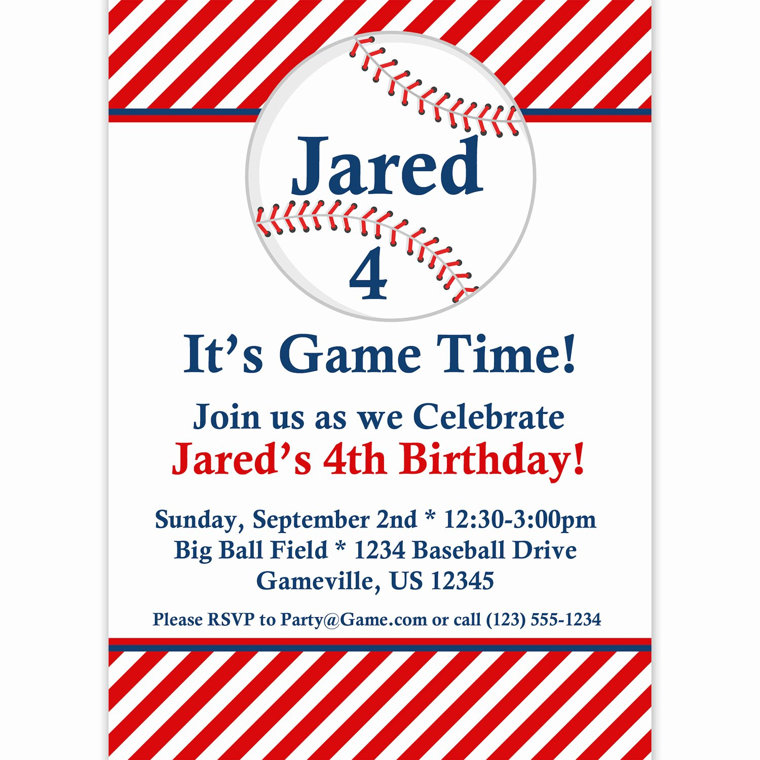 9 Best Of Free Baseball Printable Invitation