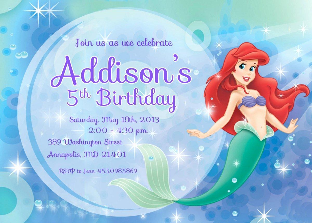 9 Best Of Free Mermaid Printable Invitation