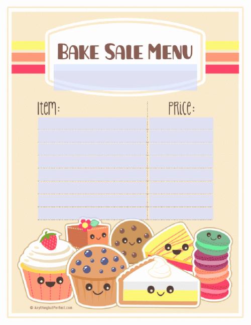 9 Best Of Free Printable Bake Sale Templates Free