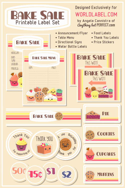 9 Best Of Free Printable Bake Sale Templates Free