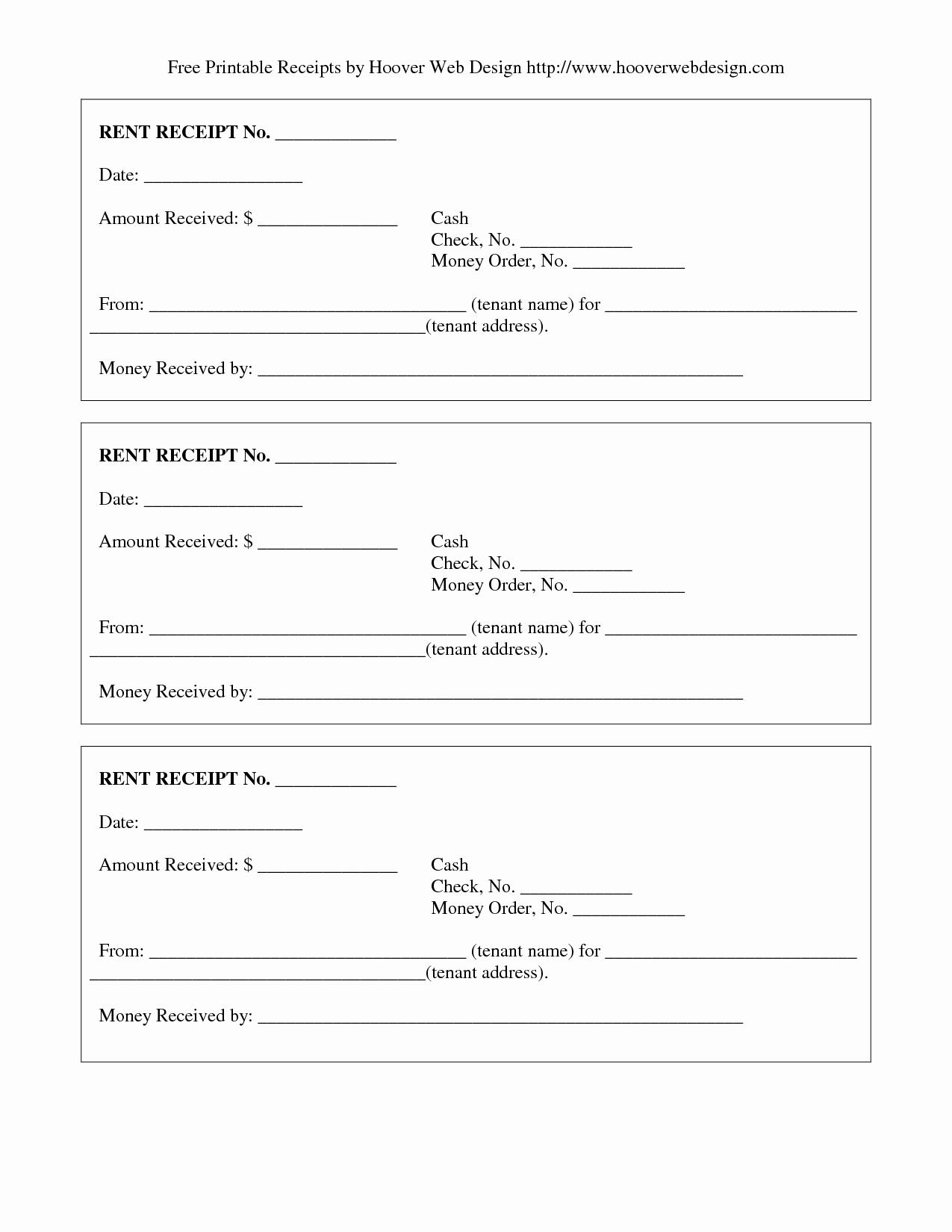9 Best Of Free Printable Blank Receipts Free