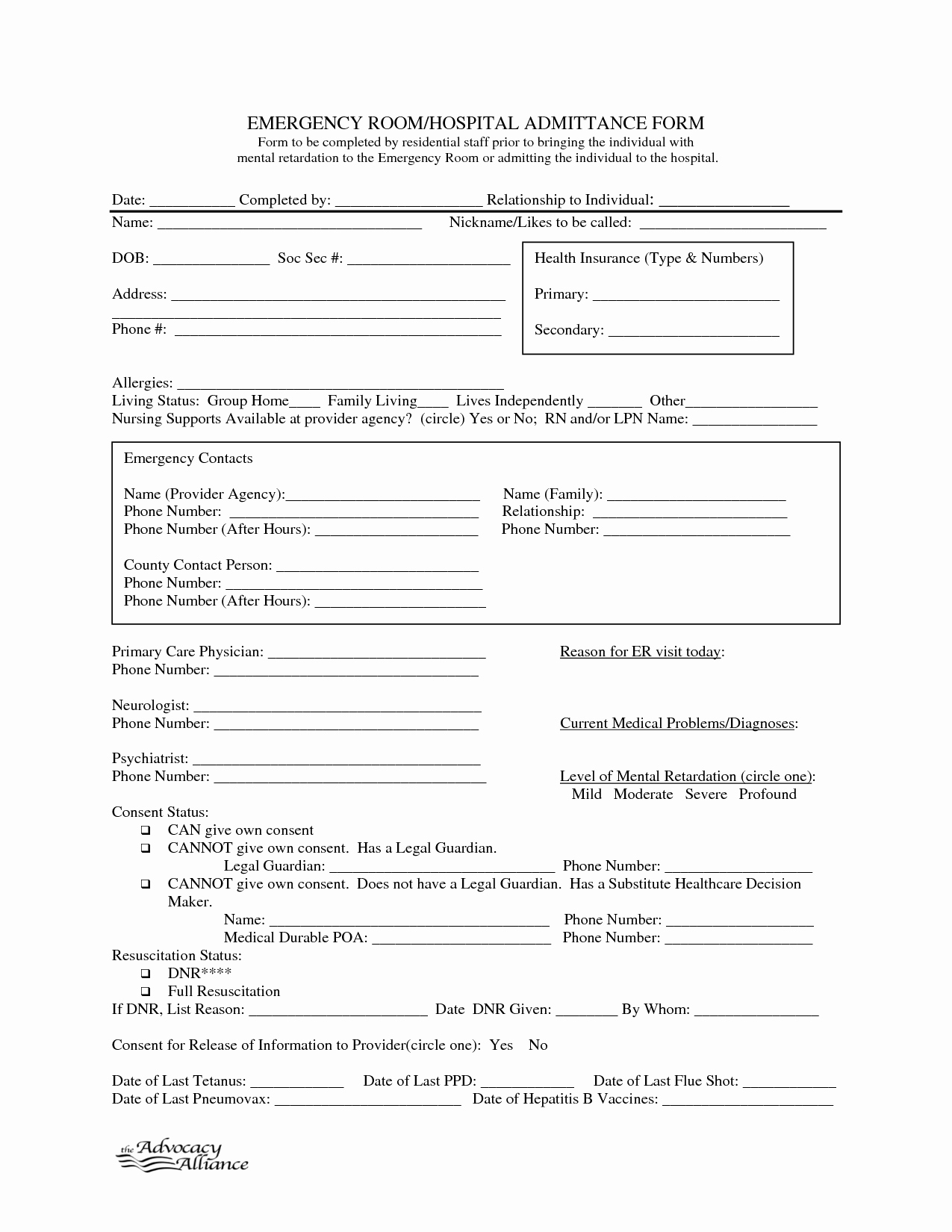 9 Best Of Free Printable Hospital Discharge forms
