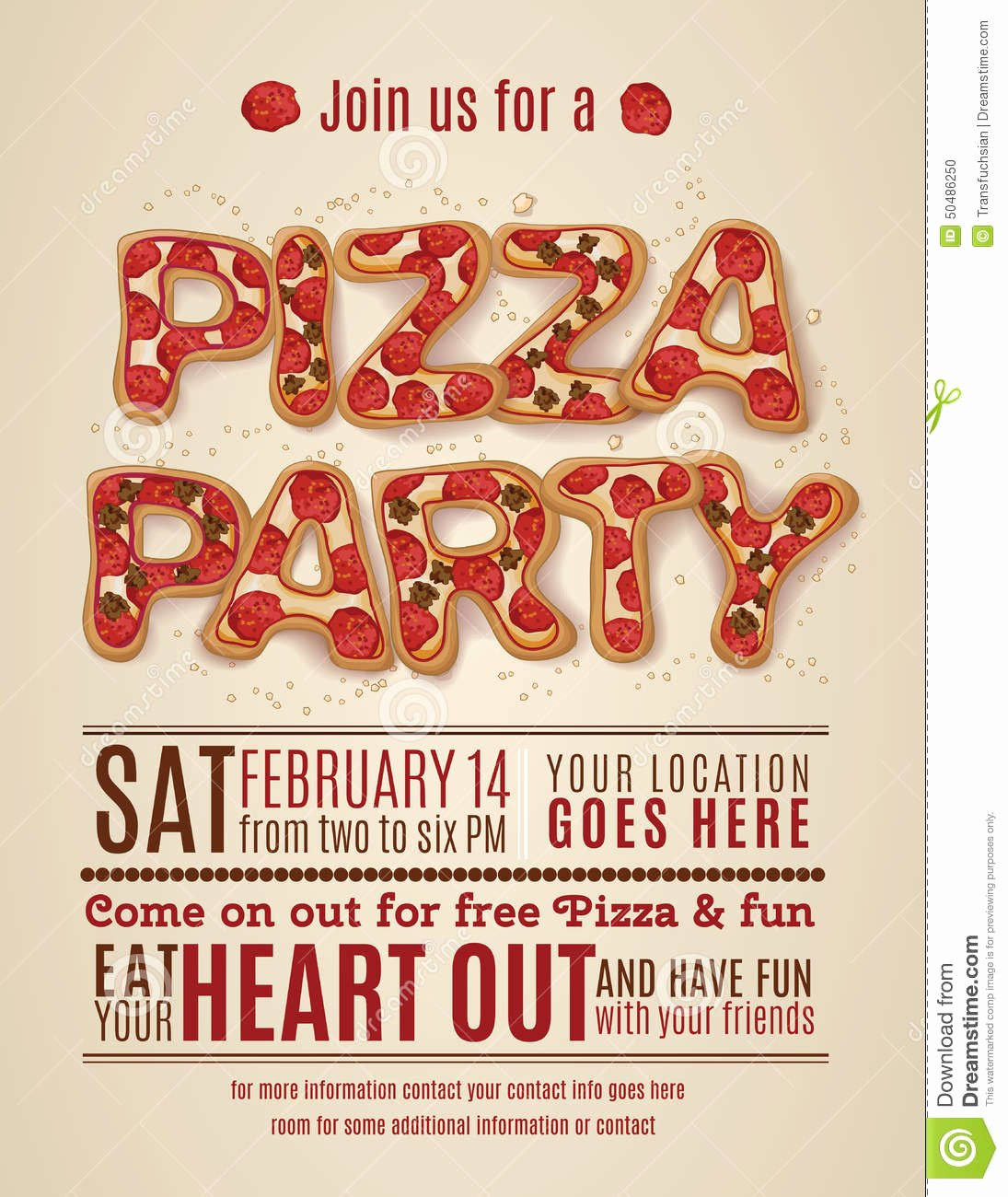 9 Best Of Free Printable Pizza Party Flyers Free