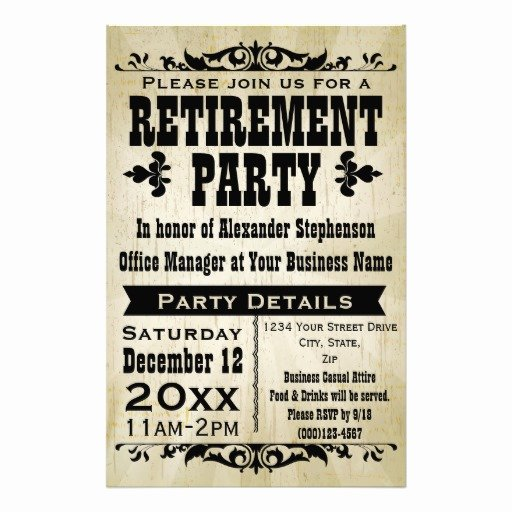 9 Best Of Free Printable Retirement Party Flyers