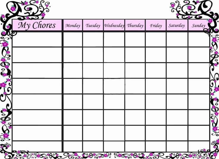 9 Best Of Free Printable Shark Chore Chart Free