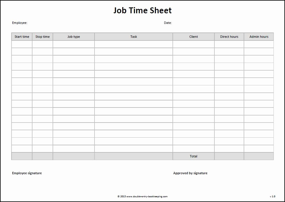 9 Best Of Free Printable Time Sheets Templates