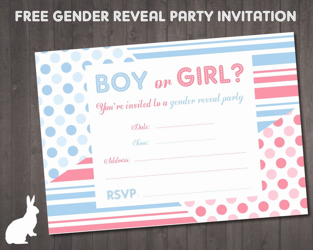 9 Best Of Gender Party Invitations Free Printable