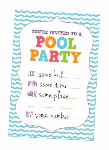 9 Best Of Kids Pool Party Free Printables Free