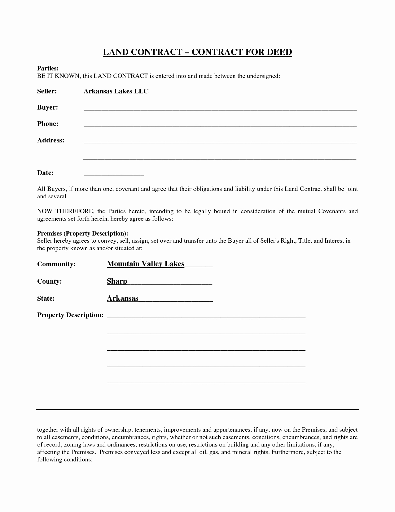 9 Best Of Land Contract Agreement forms Free Free