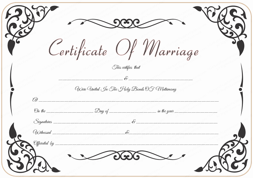 9 Best Of Marriage Certificate Template Free