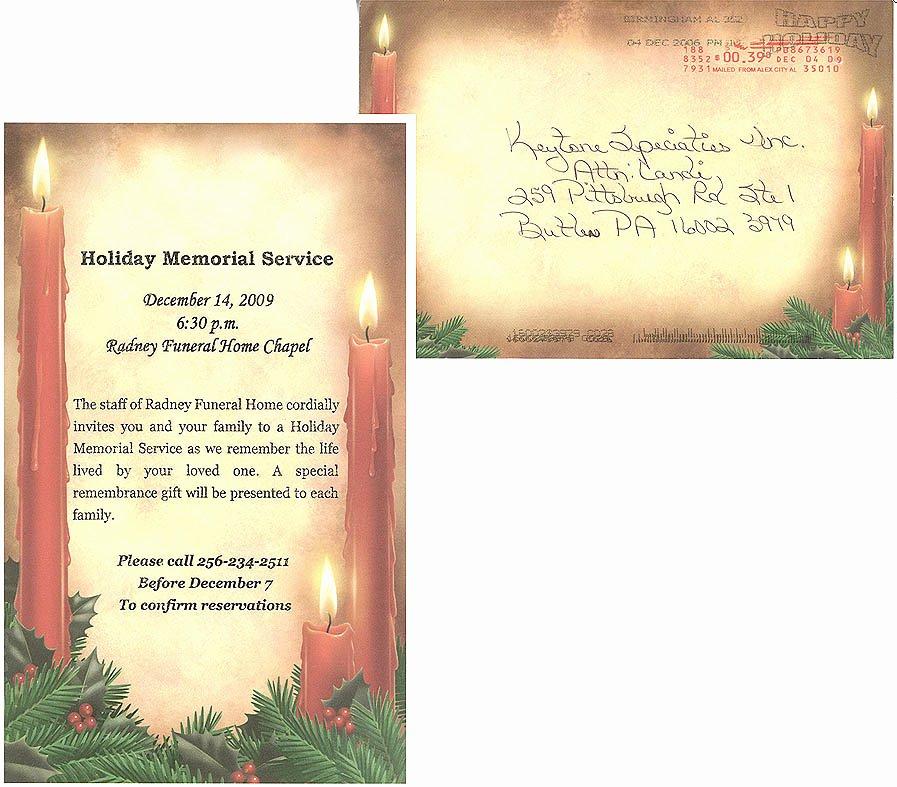 9 Best Of Memorial Service Announcement Template