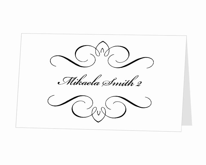 9 Best Of Place Card Template Word Diy Wedding