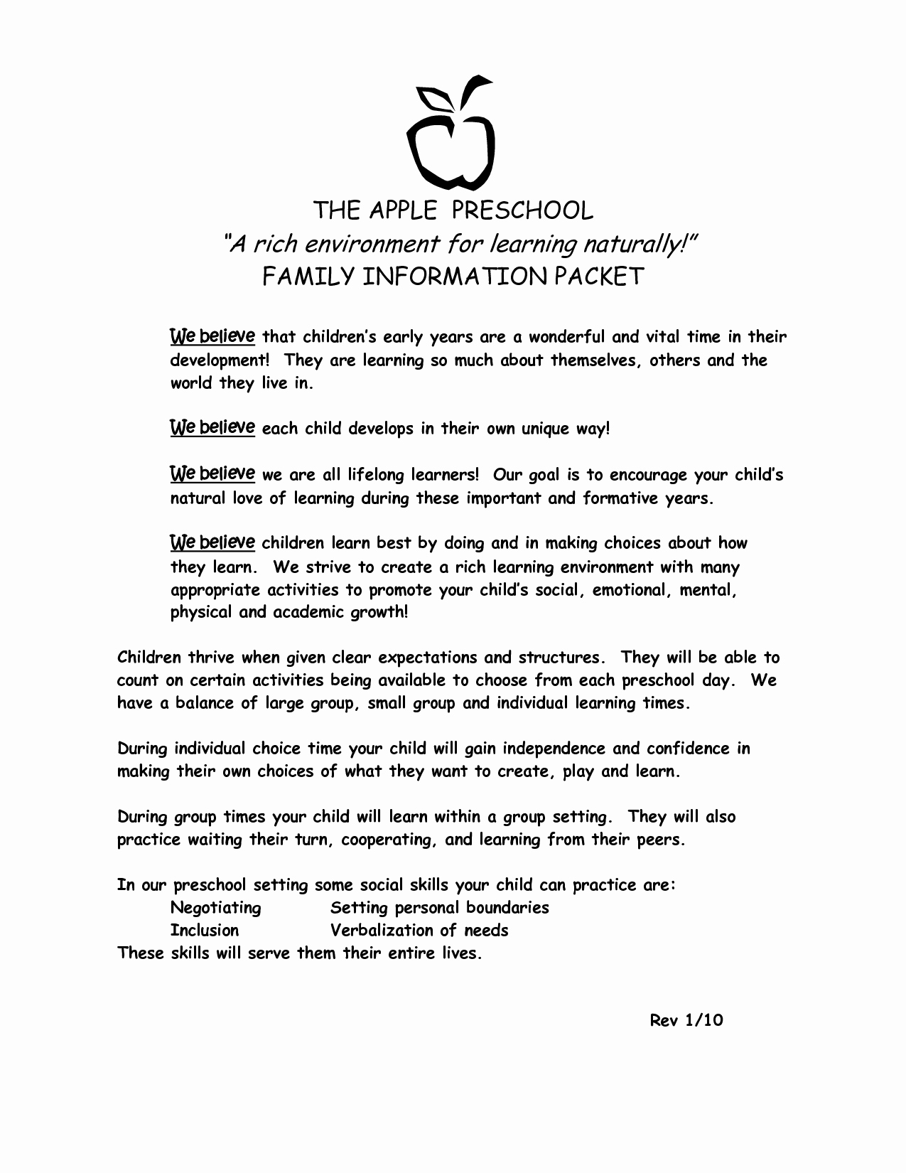 9 Best Of Preschool Parent Letter Template Room