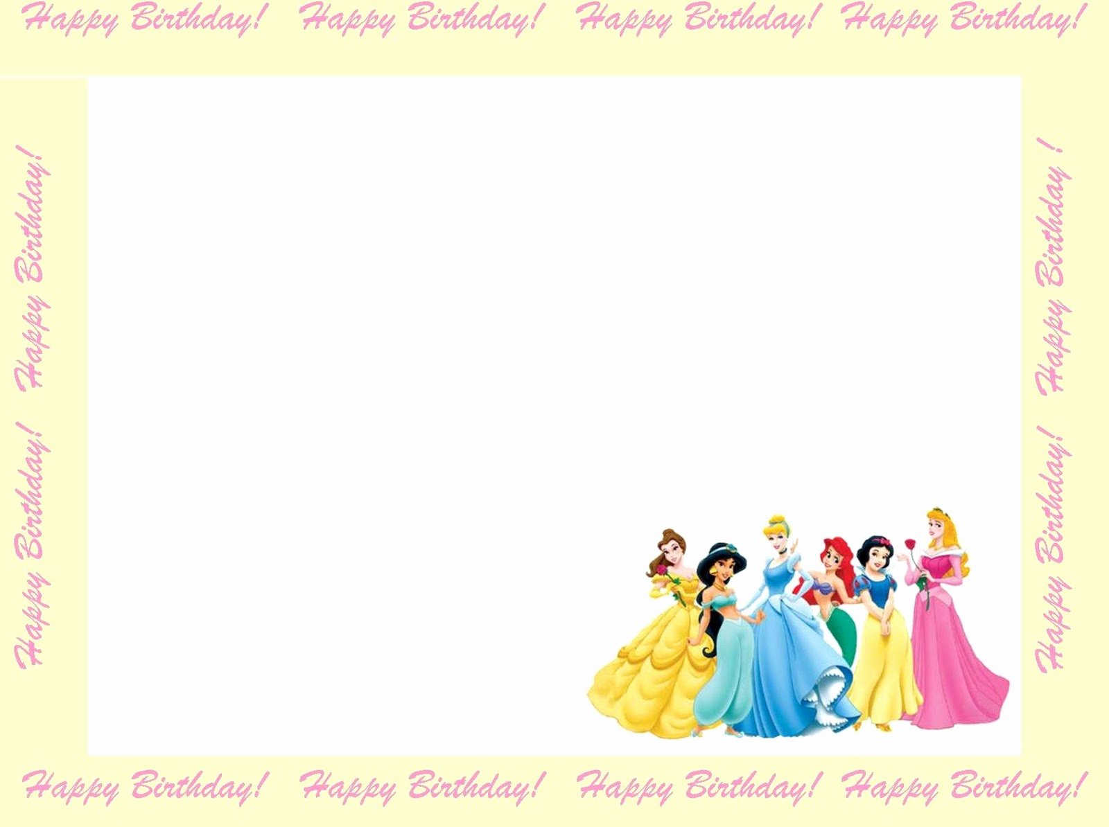 9 Best Of Princess Birthday Invitation Templates