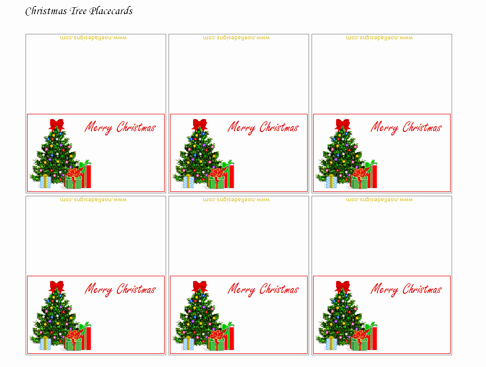9 Best Of Printable Christmas Name Cards Free