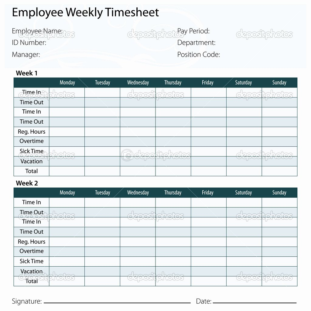 9 Best Of Printable Employee Timesheet Templates