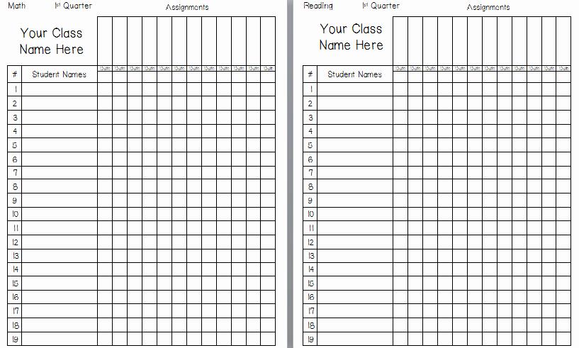 9 Best Of Printable Grade Sheets for Teachers Printable Grade Book Template Teacher