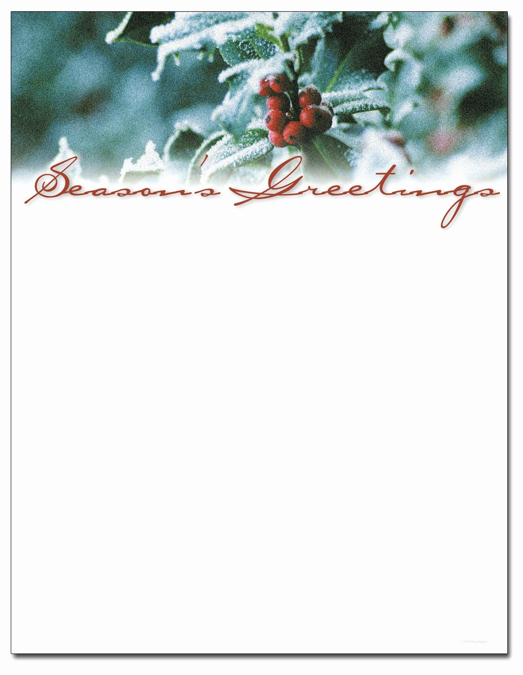 9 Best Of Printable Holiday Letterhead Paper