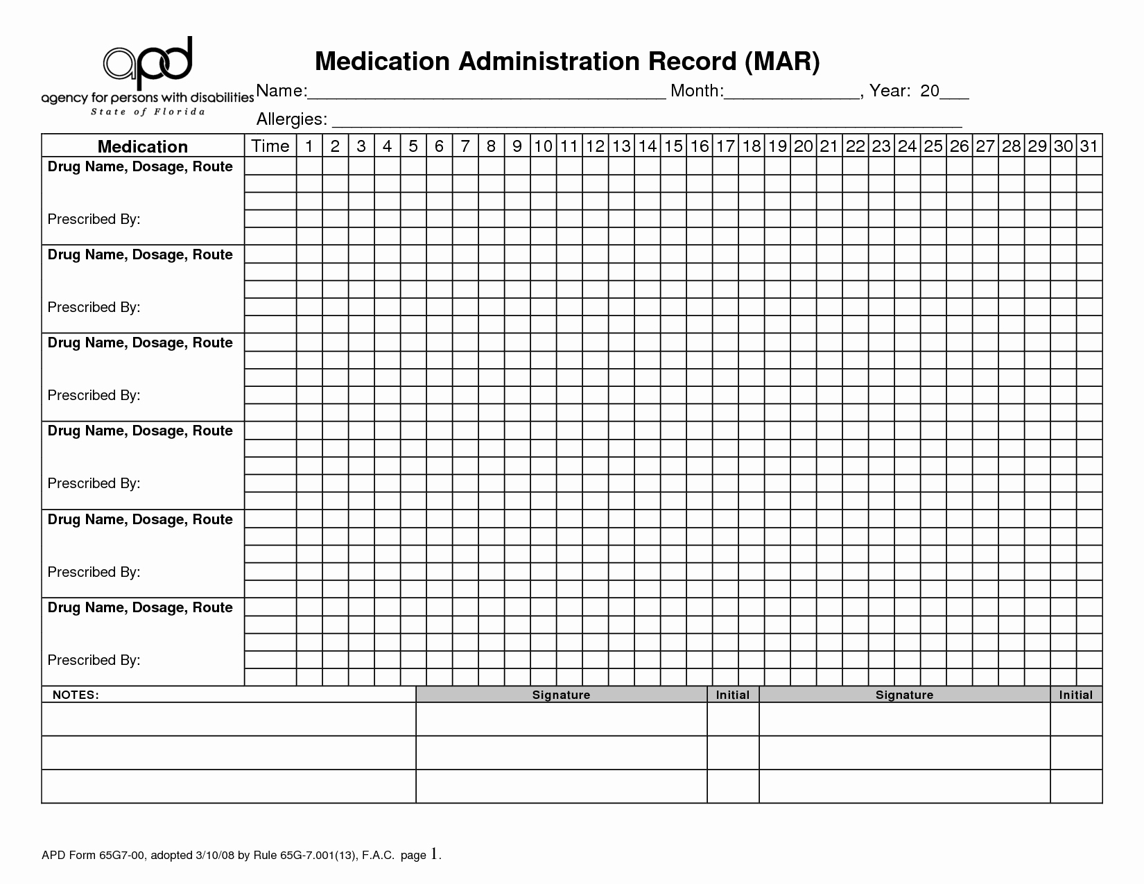9 Best Of Printable Medication Administration