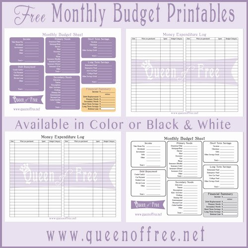 9 Best Of Printable Monthly Bud Single Mom