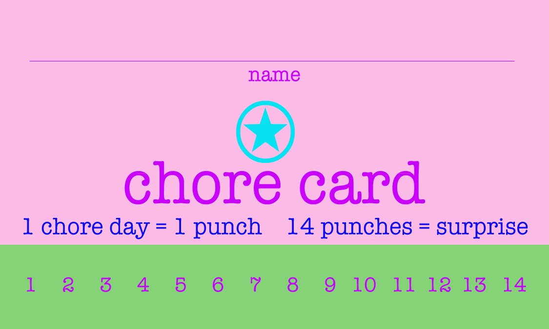 post printable punch cards