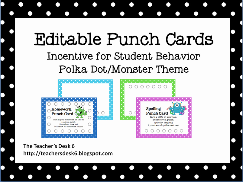 9 Best Of Printable Punch Cards Free Printable