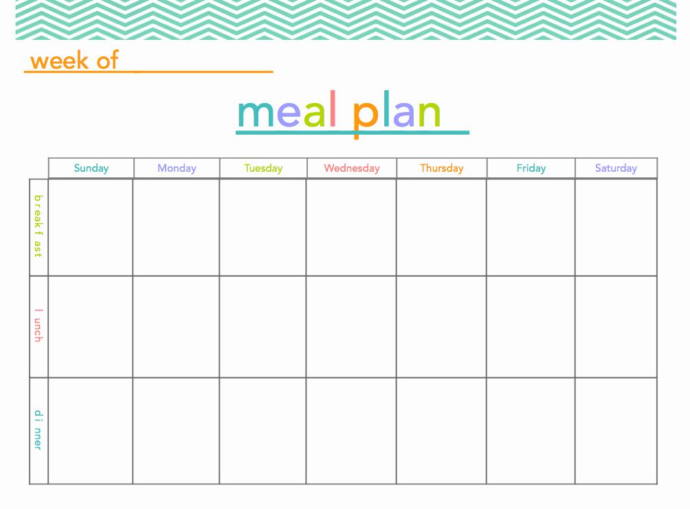 9 Best Of Printable Weekly Meal Plan Ideas Meal