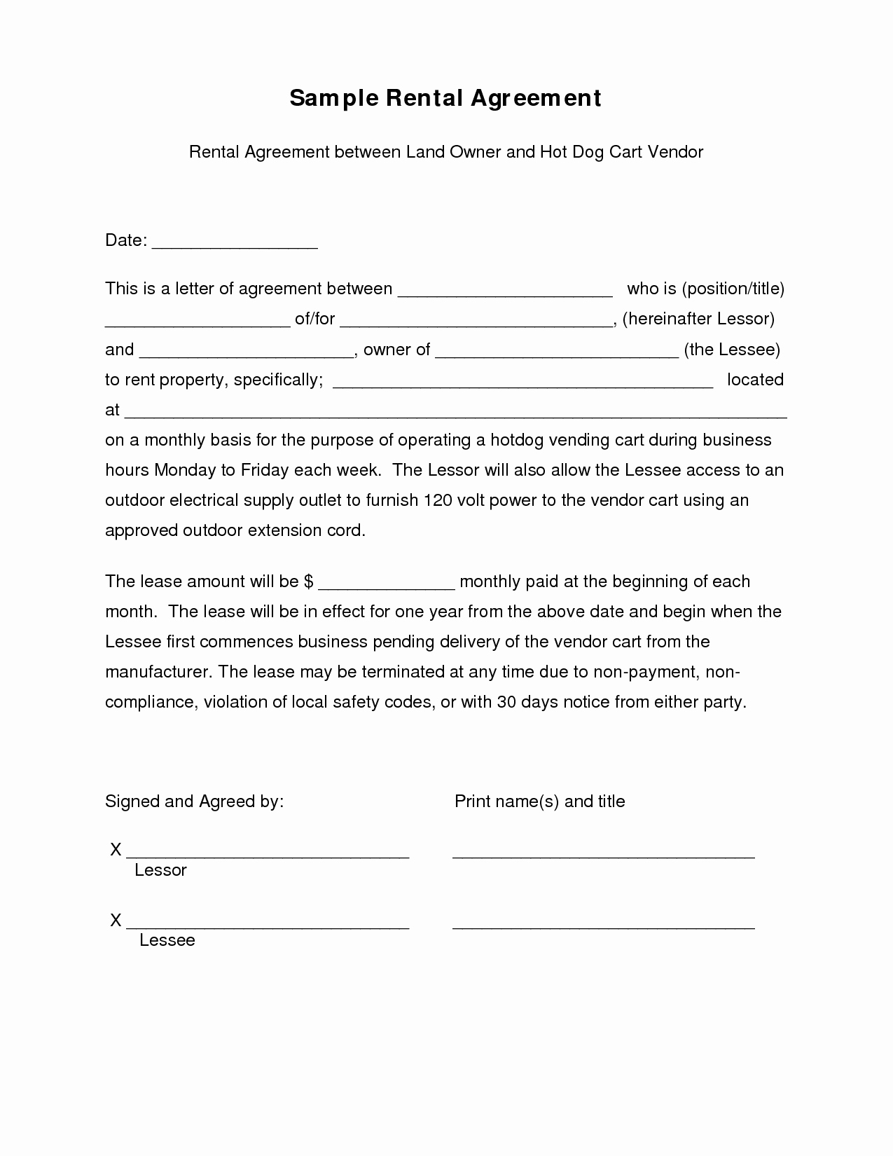 9 Best Of Simple Sample Contract Agreement Template
