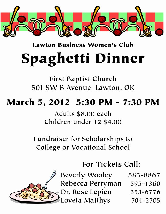 9 Best Of Spaghetti Dinner Flyer Clip Art