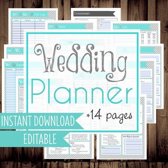 9 Best Of Wedding Planning Printables Printable