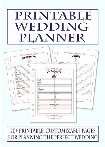 9 Best Of Wedding Planning Printables Printable